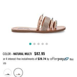 Steve Madden Lindy natural multi sandal
